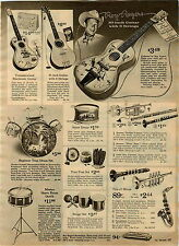 1964 AD Toy Guitar Roy Rogers Radio Mickey Mouse Remco Empess Phone Transistor