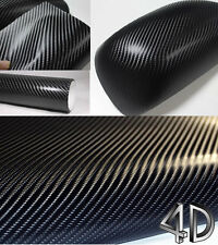 Best Quality 4D BLACK Carbon Fibre Vinyl Wrap Sheet Film Sticker 30cm x 1.52m