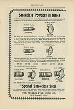 1898 Marlin Fire Arms Ad Smokeless Poweders in Rifles Bullets Before & After