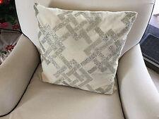 ART DECO New York Style CreamVelvet+Beaded Throw Cushion+Home Decor+Pillow Cover