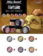 6 pcs Mia Secret Professional Nail System Metallic Collection Silver Gold New