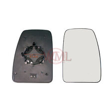 RENAULT MASTER 2010- 2016 DOOR MIRROR GLASS SILVER, HEATED & BASE,RIGHT SIDE