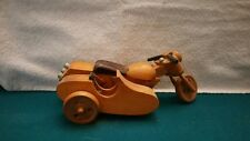 All Wood Handmade Harley Davidson Motorcycle with Sidecar
