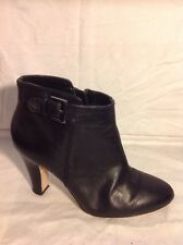 Next Black Ankle Leather Boots Size 5
