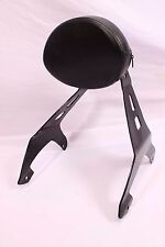 YAMAHA RAIDER SCL FIXED MOUNT PASSENGER BACKREST SISSY BAR & CUSTOM PAD BLACK