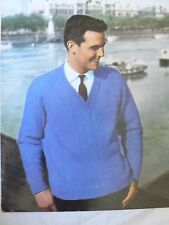Vintage 1950s Mens Jumper Knitting Pattern