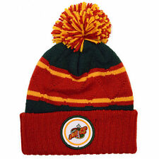 Seattle Supersonics Mitchell and Ness Cuffed Pom Knit Beanie Hat Quilted Crown