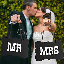 """Black """"Mr Mrs"""" Letter Photo Booth Garland Banner Wedding Party Photography Props"""