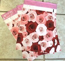 """50 -10x13"""" DESIGNER SERIES ~Roses Print, Poly Mailers, USPS Approved"""