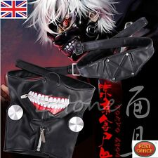 Tokyo Ghoul Kaneki Ken Adjustable Zipper Belt Prop Mask Halloween Cosplay Party