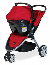 Britax B-Agile Stroller & B-Safe 35 Infant Car Seat Travel System in Red!