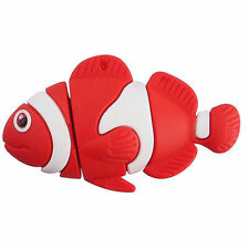 Orange Nemo Fish Clownfish Sealife Animal Shape 16Gb Novelty USB Flash Drive