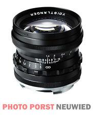 Voigtländer objetivamente nokton 1,5/50 mm asphärisch VM negro