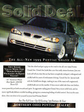 1999 Pontiac Grand Am Solid Deal - Original Car Advertisement Print Ad J177