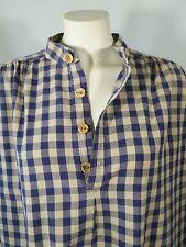 Vintage J Peterman Company Heavy Check Cotton Loose Fit Shirt Blouse Top Sz L