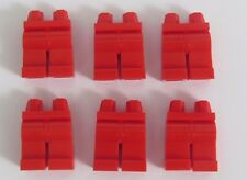 Lego 6  Leg  Legs Lower Parts For Minifigure Figure Red