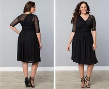 new SOLDOUT KIYONNA black modern mesh lane bryant size dress 3x 22 24
