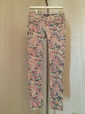 Miss Me Cargo Cuff Skinny Pink Floral Studs Jeans Size 27