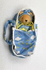 NABCO Soft baby bear in carry cot cute for new born baby boy Christmas present