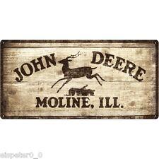 Blechschild 25 x 50, John Deere Logo 1937, Werbeschild Art. 27001