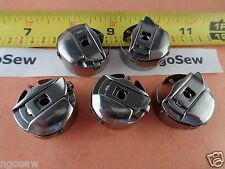 5  Small L Size Pigtail Bobbin Cases fits Melco, SWF, Amaya Embroidery Machines