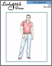 Blue Jeans / sewing pattern for the Trent Osbourne doll by Ashton Drake