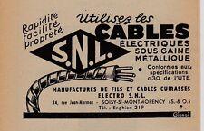 1952  --  MANUFACTURE DE CABLES SNL   SOISY SOUS MONTMORENCY   3F111