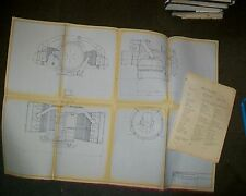 LIMBACH SL1700EA AERO ENGINE BLUEPRINT DRAWING.1971  LIGHT AIRCRAFT ENGINE SPEC