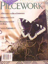 Piecework Magazine Needlework 2001 Nov Dec Knitting Embroidery Beading Laces