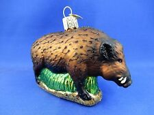 Wild Boar Pig Old World Christmas Ornament Glass Tree Animal NWT 12500