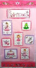 TA DA PRINCESS BALLERINA HENRY GLASS COTTON FABRIC COT QUILT / WALLHANGING PANEL