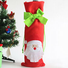Christmas Decorations Red Santa Claus Wine Bottle Cover Bags Dinner Party Gift