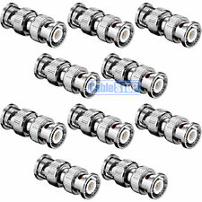 10 x BNC MALE to MALE COUPLER ADAPTER FOR TV CCTV CAMERA CABLE JOINER CONNECTOR