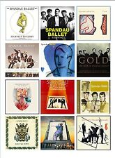SPANDAU BALLET  ALBUM COVERS SET OF 12 FLEXIBLE THIN  FRIDGE MAGNETS CHRISTMAS