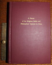 1969 A History of the Religious Beliefs & Philosophical Opinions of CHINA Wieger