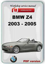 BMW Z4 E85 2003 2004 2005 Factory Service Repair Manual