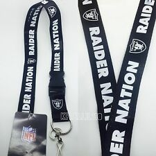 Oakland Raiders Nation Breakaway Lanyard Key chain Official Licensed
