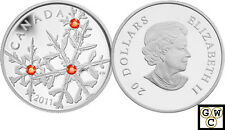 2011 'Hyacinth Small Crystal Snowflake' Proof $20 Silver Coin .9999 Fine (OOAK)