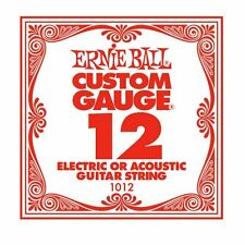 Ernie Ball Custom Gauge Single Guitar String for Eectric/Acoustic (12)