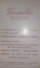 1975 VERSAILLES Catalogue de Vente COLLECTION DE TIMBRES POSTE OBJETS GUERRIERS