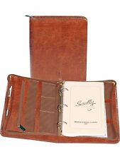 Scully Leather 8053Z  Brown Antique Calf 3-Ring Planner
