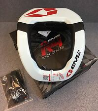 EVS RC4 NECK BRACE SUPPORT RACE COLLAR WHITE ADULT RC 4 PROTECTION #663-2354