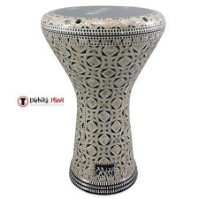 "The "" Arabian Gate"" Gawharet El Fan 17"" Mother of Pearl Darbuka Doumbek Drum"