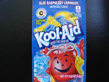 30 BLUE RASPBERRY LEMONADE Kool Aid Drink Mix summer pool party popsicle taste!