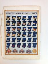 Mercantile Marine Standard Uniform Distinction Of Rank & Key Vintage Print c1928