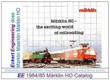 EE 1984/85 E VG Marklin Total Catalog Years 1984 1985 Class Re44 Very Good Cond