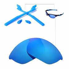 New WL Ice Blue Lenses And Rubber Kit For Oakley Half Jacket 2.0