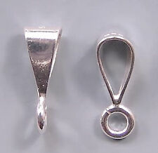 Simple Shiny Bail Sterling Silver Open Loop #631 (3)