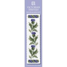 Counted Cross Stitch Bookmark Kit - Textile Heritage - Purple Victorian Thistles