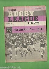 #QQ. THE RUGBY LEAGUE NEWS, 24-26th April 1971, Newtown Jets vs Easts Cover